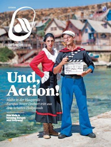 Juli 2016 airberlin magazin - Und, Action!