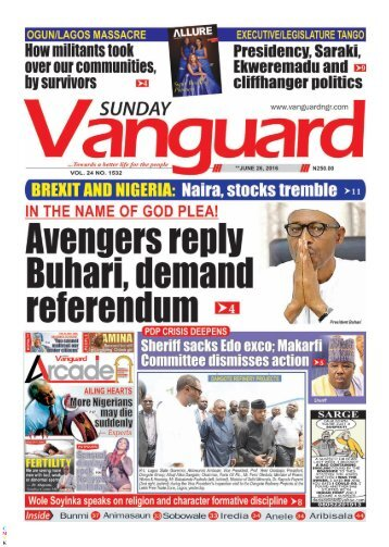 Avengers reply Buhari, demand referendum