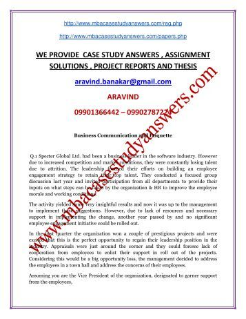 business management case studies with answers A case study provides you with a scenario in which to identify issues and apply  your recent  there are often no right or wrong answers rather.