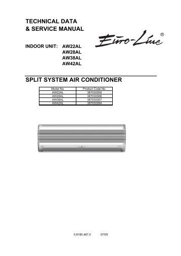 technical data & service manual split system air conditioner
