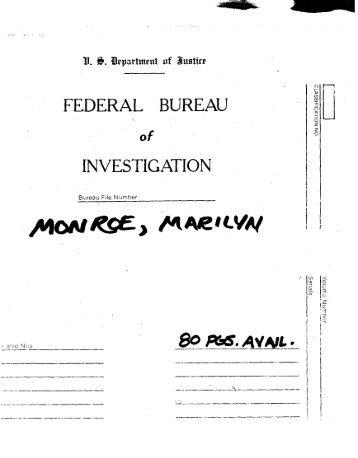 Marilyn Monroe FBI Files (1)