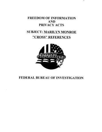 Marilyn Monroe FBI Files (2)