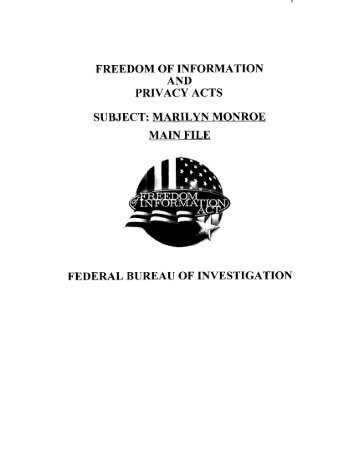 Marilyn Monroe FBI Files (3)