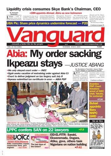 Abia: My order sacking Ikpeazu stays