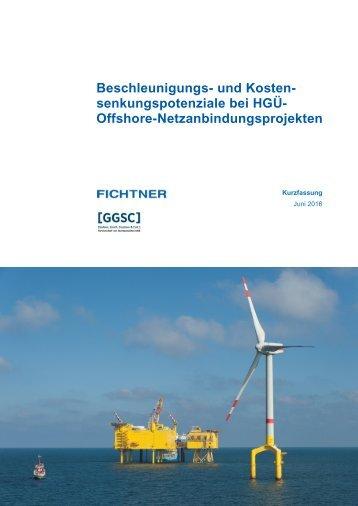 Studie Beschleunigungs- und Kostensenkungspotenziale bei HGÜ-Offshore-Netzanbindungsprojekten_Kurzfassung