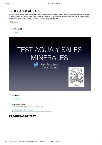TEST SALES AGUA 2 - Formularios de Google RESOL