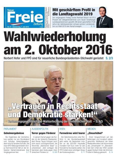 Wahlwiederholung am 2. Oktober 2016