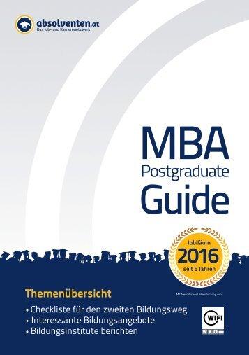 MBA KarriereGuide 2016