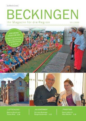 Gemeindemagazin Beckingen 01|2016