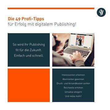 49 Profi-Tipps für Erfolg mit digitalem Publishing
