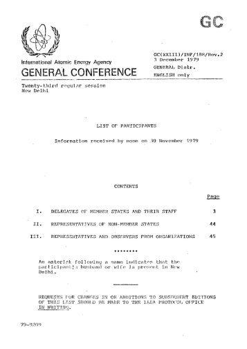 GC(23)/INF/188/Rev.2 - List of Participants - IAEA