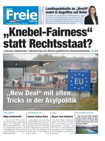 """Knebel-Fairness"" statt Rechtsstaat"
