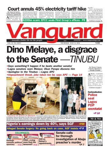 Dino Melaye, a disgrace to the Senate - Tinubu