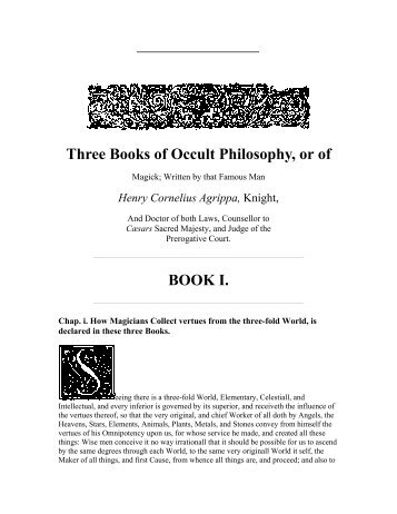 Occult Philosophy
