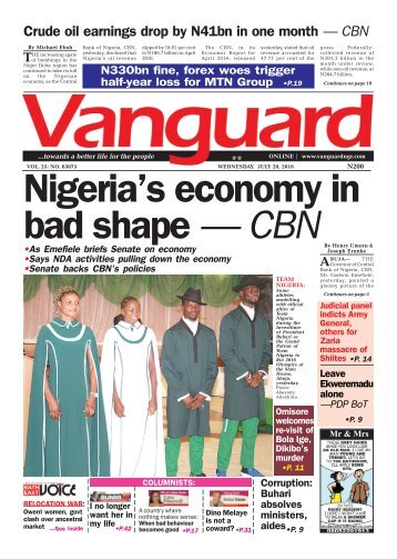 Nigeria's economy in bad shape — CBN