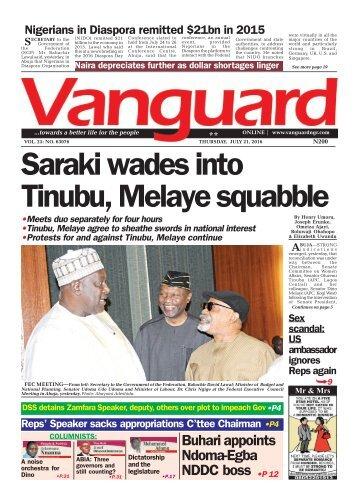 Saraki wades into Tinubu, Melaye squabble