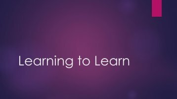 Student Success Section 1 - Learning To Learn (1)