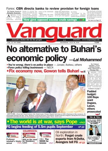 No alternative to Buhari's economic policy