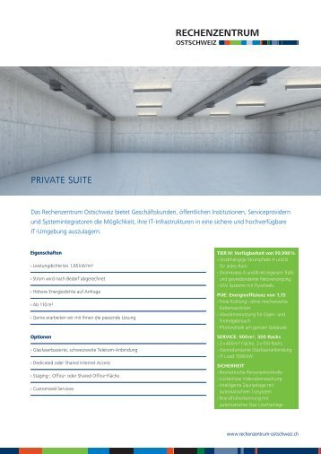 Datenblatt Private Suite