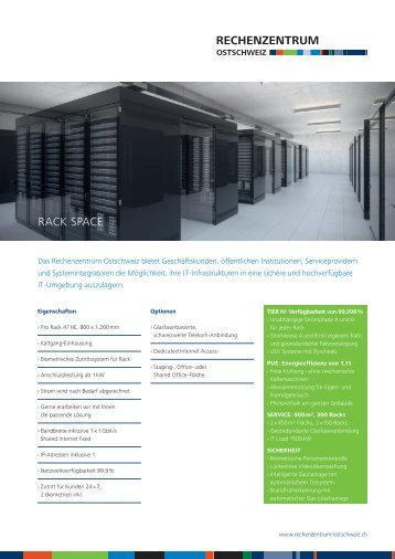 Datenblatt Rack Space