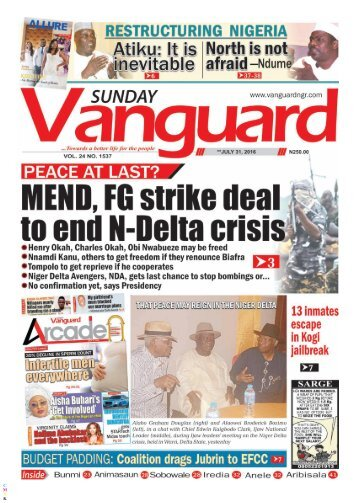 PEACE AT LAST:MEND? - FG STRIKE DEAL TO END N-DELTA CRISIS