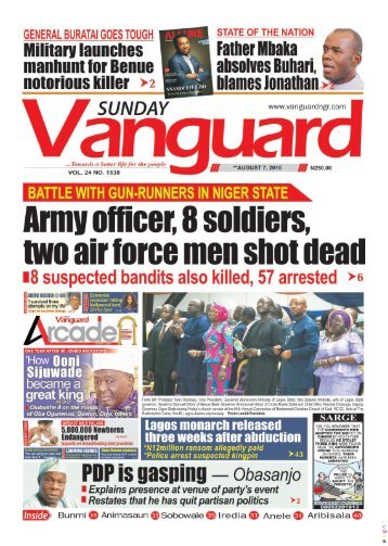 Battle with Gun-Runners in Niger State: Army officer, 8 solidiers, two air forec men shot dead