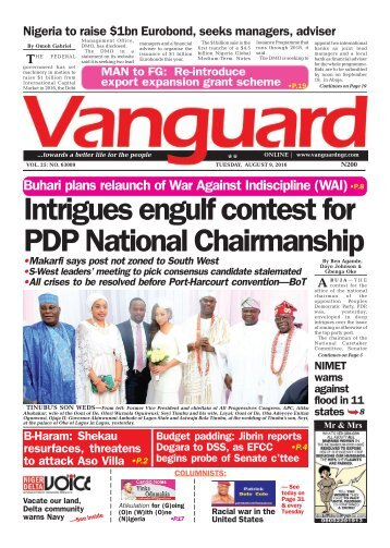 Intrigues engulf contest for PDP National Chairmanship