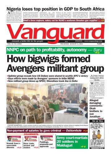 How bigwigs formed Avengers militant group