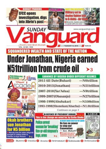 Under Jonathan, Nigeria earned N51trillion from crude oil
