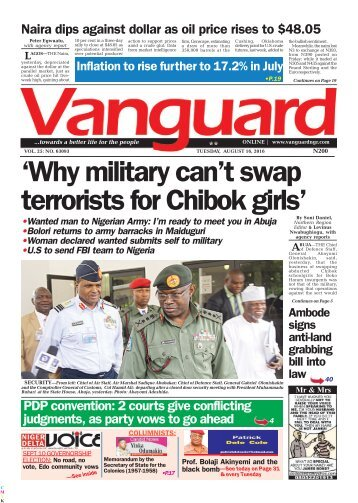 Why military can't swap terrorists for Chibok girls