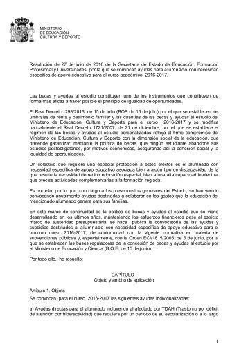 Plan de acci n social ministerio de educaci n cultura y for Convocatoria docentes 2016 ministerio de educacion