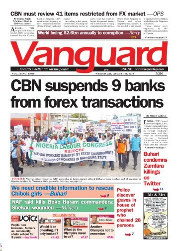 CBN suspends 9 banks from forex transactions
