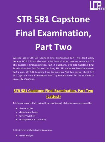 Find Study Guide for Final Exams & Assignments! Boost Your Grade