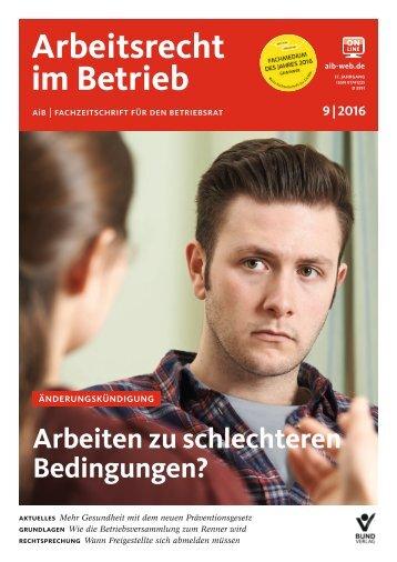 Leseprobe Arbeitsrecht im Betrieb 9_2016