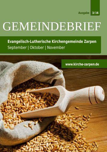 Gemeindebrief September Oktober November INTERNET