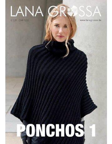 Ponchos 1 stricken Lanagrossa - Wollstudio.com