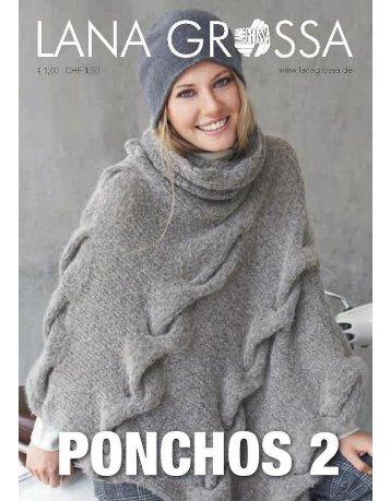 Poncho 2 stricken Lanagrossa - Wollstudio