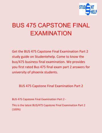 capstone situation analysis Apply theory & principles in a situation that approximates professional practice 5   faster, cleaner data, allows more complex analysis.