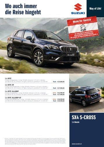 SX4 S-CROSS Preis-, Ausstattung- und technische Daten