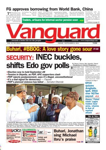 SECURITY: INEC buckles, shifts Edo gov polls