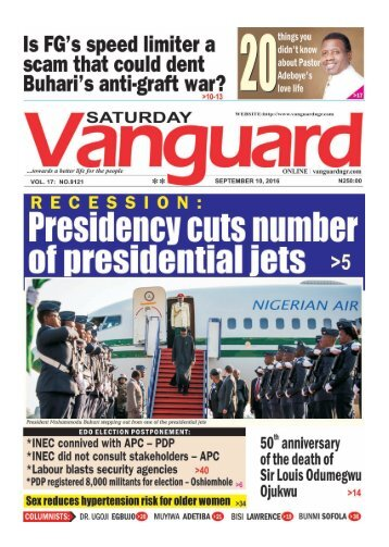 RECESSION: Presidency cuts number of presidential jets