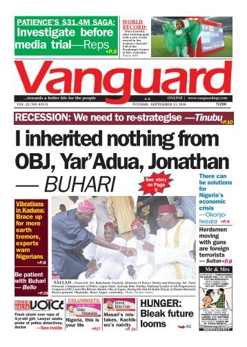 I inherited nothing from OBJ, Yar'Adua, Jonathan - BUHARI
