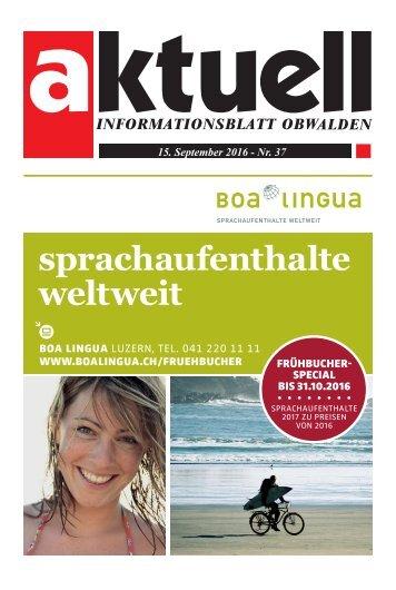 Aktuell Obwalden 37-2016