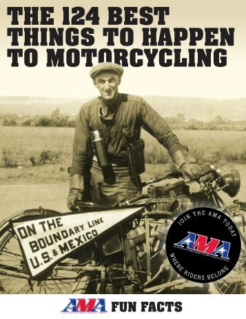 THE 124 BEST THINGS TO HAPPEN TO MOTORCYCLING