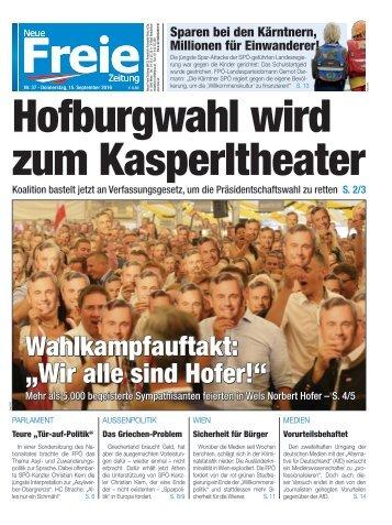 Hofburgwahl wird zum Kasperltheater