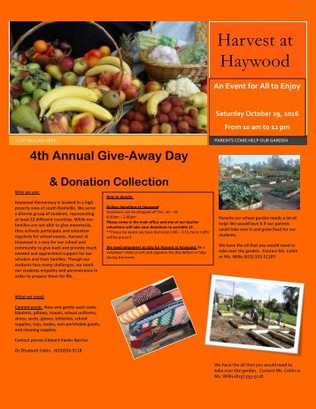 Harvest at Haywood