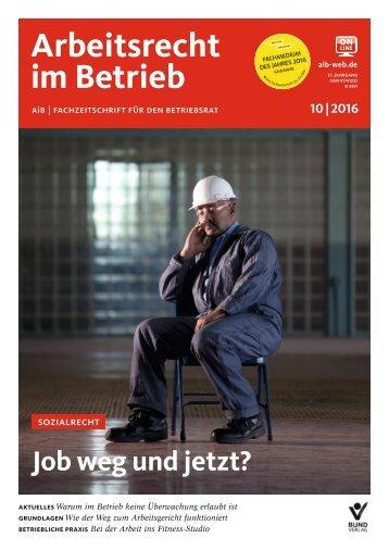 Leseprobe Arbeitsrecht im Betrieb 10_2016