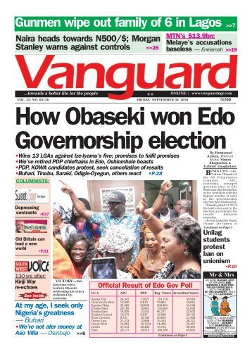 How Obaseki won Edo Governorship election