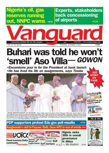 "Buhari was told he won't ""smell"" Aso Villa - Gowon"