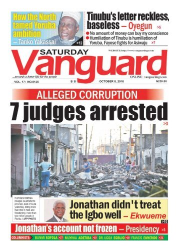 ALLEGED CORRUPTION: 7 Judges arrested